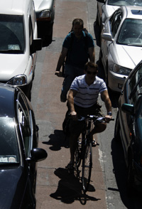 Cyclists vulnerable to side swipe