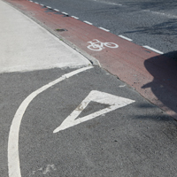 Abrupt transition to carriageway